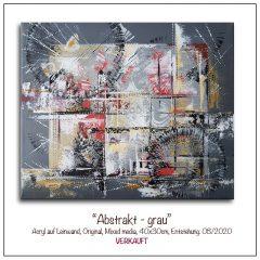Acrylbild-Abstrakt-grau
