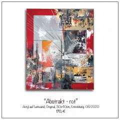Acrylbild-Abstrakt-rot