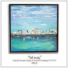 Acrylbild-Sail-away