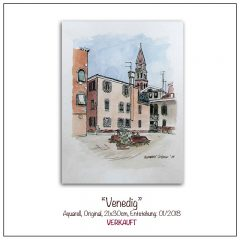 Aquarell-Venedig